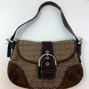 Coach Canvas and Leather two tone Brown Purse